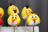 Holiday sweets with angry birds — Foto de Stock