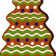 Royalty-Free Stock Vector Image: Gingerbread X-mas tree