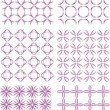Set of decorative patterns for wallpapers and fabrics — Stockvektor #25898793
