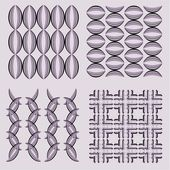 Set of vector abstract patterns — Stock Vector