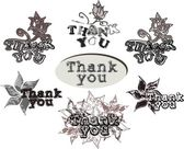 "Acknowledgments with ""thank you"" words — ストックベクタ"