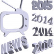 Headline news - words in 3d style. — Stock Vector