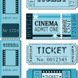 Set of movie ticket templates — Stock Vector