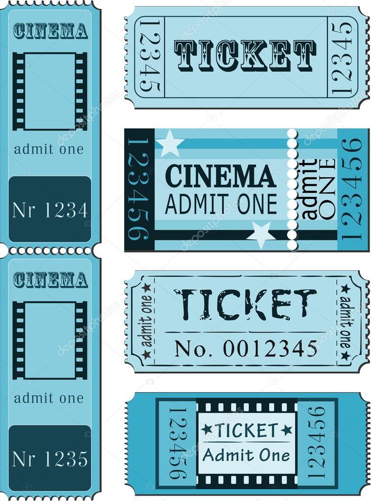 Set of movie ticket templates — Stock Vector © SiwaBudda #28595733