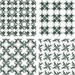 Set of seamless geometric patterns — Imagen vectorial