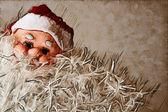 Stanta Claus with bushy beard background — Stock Photo