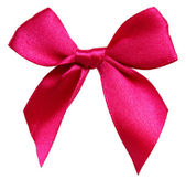 Isolated pink bow — Stock fotografie