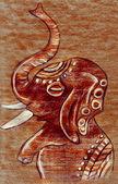 Glad målade elefant — Stockfoto