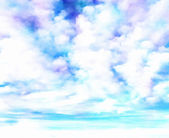Watercolor Clouds Background — Stock fotografie