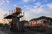 Oude locomotief reparatie plant — Stockfoto