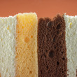 Cross section texture of pieces cake — Stock Photo