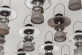 Vintage petrol lamp hanging on ceiling. — Foto Stock