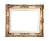 Retro marco de oro viejo, aislado — Foto de Stock
