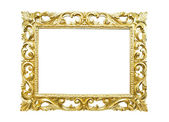 Retro old gold frame, isolated — Stock Photo