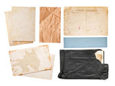 Vintage paper set — Stock Photo