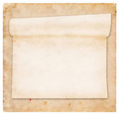 Aged scroll paper, vintage grunge paper on background — Stock Photo
