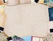 古い紙から作られたフレーム — ストック写真