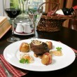 Stock Photo: Steak with potato, place setting
