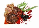 Medalhões de filé de carne grelhado — Fotografia Stock