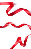 Collection of various red ribbons — Foto Stock