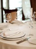 Place setting, restaurant — Stock Photo