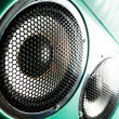Audio speaker. The musical equipment. Close-up — Stock Photo #25100527