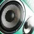 Audio speaker. The musical equipment. Close-up — Stock Photo