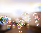 Soap bubbles, abstract background — Stockfoto