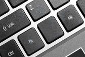 Black blank computer keyboard button with copyspace — Stock Photo