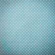 Blue Fabric and White Tiny Polka Dots Background — Stock Photo
