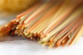 Spaghetti close up photo — Zdjęcie stockowe