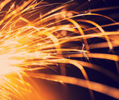 Flowing Sparks, abstract background  — Stock Photo