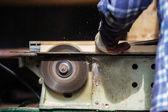Staré tesařské práce se dřevem — Stock fotografie