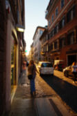Blurred city and people urban scene  — 图库照片