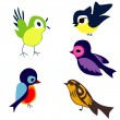birds — Stock Vector