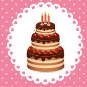 Cake vector — Stock Vector