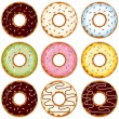 Donuts — Stock Vector #30485257