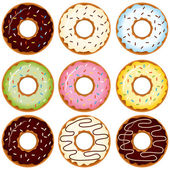 Donuts — Stock Vector