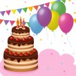 Birthday party — Imagen vectorial