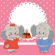 Stock Vector: Birthdays elephant