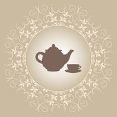 Tee-zeit — Stockvektor
