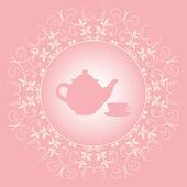 Tea time — Vector de stock