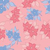 Flowers seamless — Stock Vector