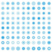 Set of 100 snowflakes — Stockvektor