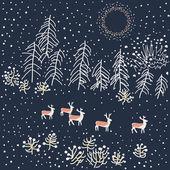 Winter scene - Illustration — Stock Vector