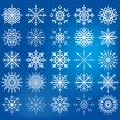 Snowflake icon set - Illustration — Stockvectorbeeld