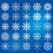 Snowflake icon set - Illustration — Stock Vector