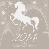 New Year symbol of horse — Stock Vector