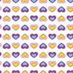 Fun hearts seamless wallpaper background - Illustration — Stock Vector