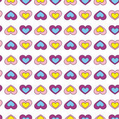 Zabawa serca bez szwu tapeta tło - ilustracja — Wektor stockowy